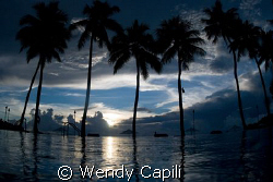 Relaxing sunset at Palau Pacific Resort Sigma 15mm + Niko... by Wendy Capili 